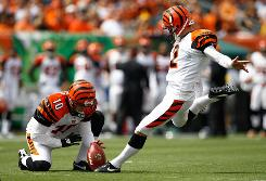 It was the Mike Nugent show for the Bengals. He kicked five field goals.
