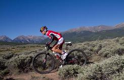 Rebecca Rusch, riding at the Leadville Trail 100 race in Colorado in August, can make more money from a sponsor depending on her social media popularity.