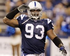 Dwight Freeney and the Colts improved to 1-1 with a win against the Giants on Sunday.