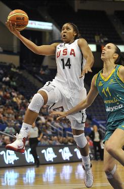 Maya Moore will be one of six current or former Connecticut Huskies on Team USA when the World Championships begin Thursday. Moore will also be just the third collegiate player to participate in the World Championships since 1998.