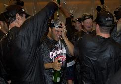 The Minnesota Twins celebrated clinching the American League Central Wednesday in Minneapolis. Five teams could celebrate playoff berths this weekend.