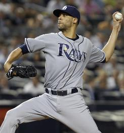 Tampa Bay pitcher David Price Price (18-6) labored through six innings against the New York Yankees. They Rays won 10-3.