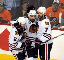 Returning core players Duncan Keith, Patrick Sharp and Brent Seabrook will lead the charge for a repeat.