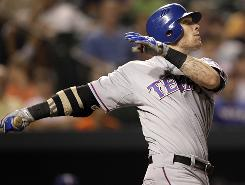 Rangers outfielder Josh Hamilton is considered the front-runner for the AL MVP award. He has fractured ribs and hasn't played since Sept. 4, however.
