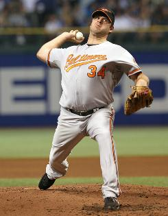 Orioles starter Kevin Millwood gave up two hits and struck out seven in seven innings in a 2-0 win over the playoff-bound Rays.
