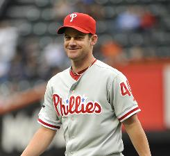 Roy Oswalt is 7-1 with a 1.65 ERA since being traded from the Astros to the Phillies.