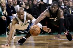 Guard Ray Allen, left, is an intregal part of a Celtics team that retained much of the same roster that took Boston to the NBA Finals last season. It's Dwyane Wade's Heat, on the other hand, who have transformed the Eastern Conference landscape, adding LeBron James and Chris Bosh during the offseason.