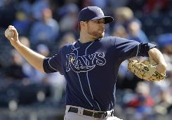 Rays starter Wade Davis pitched seven innings and allowed just two runs.