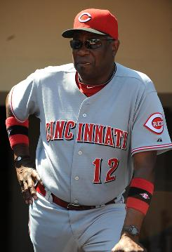 Cincinnati Reds manager Dusty Baker is the taking the third different franchise he has managed into the playoffs.