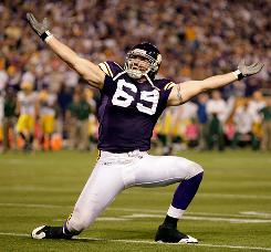 The NFL has told Vikings defensive end Jared Allen that his signature sack celebration technically constitutes unsportsmanlike conduct.