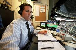 Brewers announcer Brian Anderson, in his third season calling playoff games for TBS, called 14 of the network's 26 regular season broadcasts.