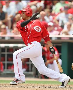 Shortstop Orlando Cabrera is one of only three Reds position players with postseason experience.