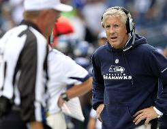 Pete Carroll's Seahawks own a share of first place in the NFC West with a 2-2 record.