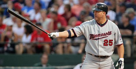Jim Thome helped carry the Twins offense into October. The designated hitter blasted 25 homers in 276 at-bats in the regular season with a staggering 1.039 OPS (on-base plus slugging percentage).