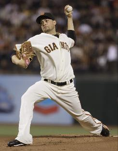 The Giants' Jonathan Sanchez went 3-0 with a 1.17 ERA during September. He will start Game 3.