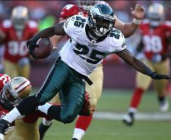 LeSean McCoy had a game-high 92 yards rushing and a touchdown and added 46 yards receiving as the Eagles kept the 49ers winless.