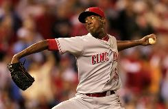 Aroldis Chapman, whose fastball has been clocked at 105 mph, is part of a deep contingent of young Reds pitchers.
