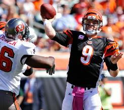 Carson Palmer and the Bengals fell to 2-3 after a loss to Tampa on Sunday.