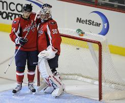Washington Capitals defenseman John Carlson and goaltender Michal Neuvirth could finish high in the voting for Rookie of the Year.