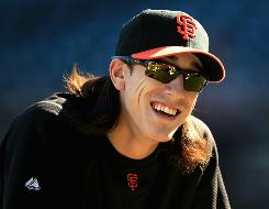 Tim Lincecum had his worst month ever in August, going 0-5, but rebounded with a 5-1 mark in September and threw a two-hitter in the NLDS against the Braves.