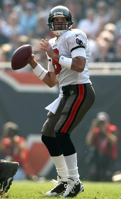Brian Griese finished his NFL career as a quarterback for the Tampa Bay Buccaneers in 2008.