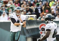 Kevin Kolb threw three TD passes in a win against the Falcons on Sunday.