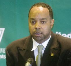 The attorney for Binghamton men's basketball coach Kevin Broadus, currently suspended, is asking for him to be reinstated.