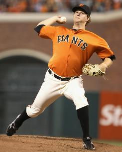 Matt Cain gets the start for the San Francisco Giants in Game 3 of the NLCS against Philadelphia on Tuesday.