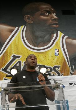 The Los Angeles Lakers announced Monday that Magic Johnson has sold his small ownership stake in the Lakers to Dr. Patrick Soon-Shiong.