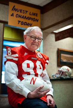 "Warren Buffett has a big collection of Nebraska Cornhusker paraphernalia. ""I've always liked sports. I haven't been that good at it. I've been redshirted now for 61 years,"" the 80-year-old investor said."
