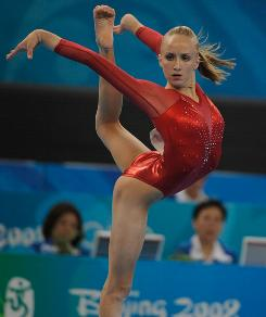Nastia Liukin, performing during the 2008 Beijing Olympics, hopes to make a decision on whether she'll return to gymnastic competition around Christimas.