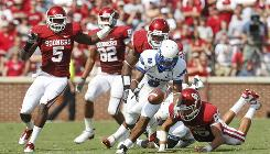 Reggie Rembert, bobbling the ball on a punt return against Oklahoma on Sept. 18, and Air Force hope to snap TCU's 18-game home winning streak on Saturday.