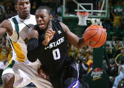 "Guard Jacob Pullen and Kansas State are picked by Big 12 coaches to end Kansas' run atop the league this season. ""We don't let the accolades and stuff to get us. We don't sit around and celebrate,"" Pullen says."
