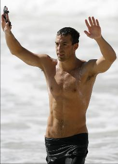 Fran Crippen, pictured after winning the Pan American Games 10-kilometer men's swimming marathon on July 14, 2007, was found in the water lifeless after failing to finish a race south of Dubai.