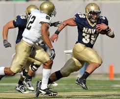 A big game by fullback Alexander Teich helped Navy beat Notre Dame for the third time in four years.