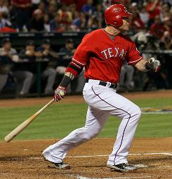 Josh Hamilton batted .350 with four home runs, seven RBI and eight walks as the Rangers ousted the Yankees in the ALCS.