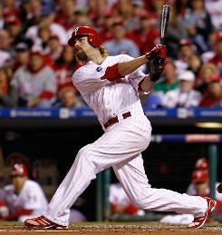 Right fielder Jayson Werth, who batted .296 with 27 home runs and 46 doubles, earned $7.5 million in 2010. He is the only Phillies starter who is eligible for free agency.