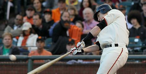 The play of catcher Buster Posey, above, led the Giants to trade Bengie Molina to the Rangers. Posey is an NL rookie of the year candidate.