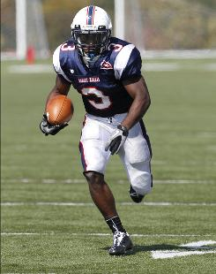 Myles Russ averages 115.1 rushing yards a game for Robert Morris.