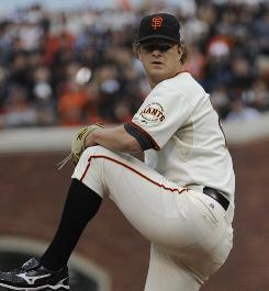 Giants starter Matt Cain has thrown 21.1 innings in the postseason without allowing a an earned run.