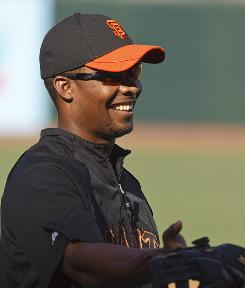 Jose Guillen batted .266 with three homers and 15 RBIs in 42 games for the Giants this season.