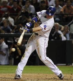 Texas Rangers left fielder Josh Hamilton is 2-16 in the World Series against the San Francisco Giants, while the Rangers as a team are 13-75 (.173) in the first four games and have been shut out twice.