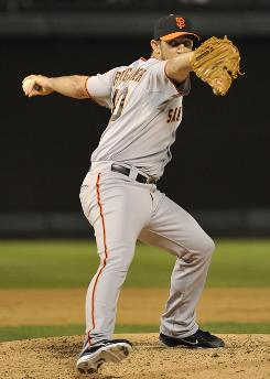 "Madison Bumgarner pitches eight innings of shutout ball. ""I don't think he threw two pitches at the same speed,"" Rangers manager Ron Washington said."