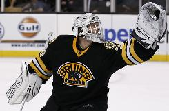 Boston Bruins goalie Tim Thomas has back-to-back shutouts and hasn't allowed more than a goal in any of his six games this season.