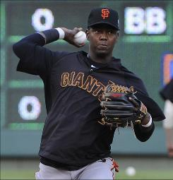 Edgar Renteria, working out before Game 5 of the World Series Monday, can become a free agent and is considering retirement.