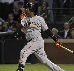 "Giants shortstop Edgar Renteria, watching his three-run homer leave the park in the seventh inning Monday, was named World Series MVP. ""It's unbelievable,"" he said."