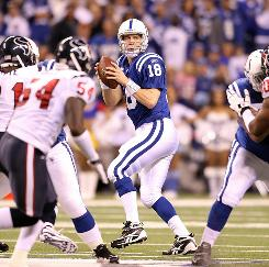 Peyton Manning passed for two touchdowns as the Colts beat the Texans 30-17. Indianapolis, who was defeated by Houston in Week 1, moved into first place in the AFC South with Monday night's win.