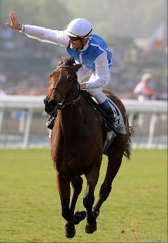 Goldikova, ridden by Olivier Peslier, is the favorite in the Mile.