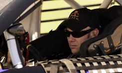 Matt Kenseth waits his turn to qualify at Talladega Superspeedway.