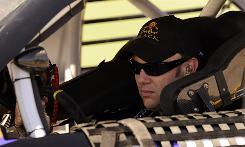 Matt Kenseth waits his turn to qualify at Talladega Superspeedway.